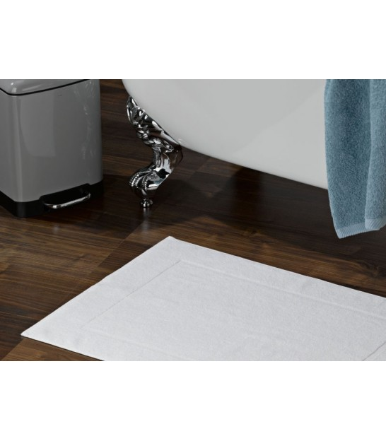 Bath Mat 100% Cotton White Star - 100x60cm