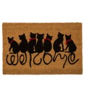 Paillasson Coco Welcome Chats - 60x40x1.5cm
