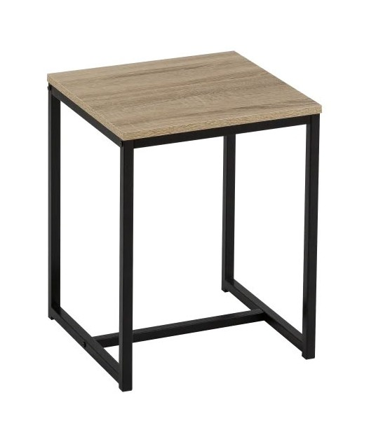 Wood and Metal Side Table