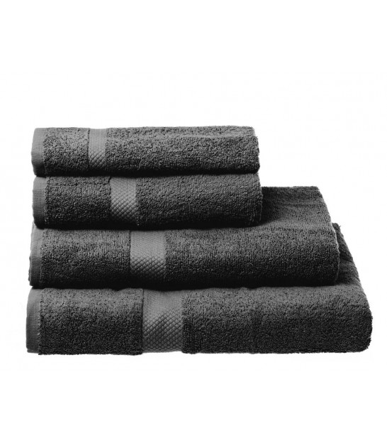 Towel 100% Cotton Grey - 30x50cm