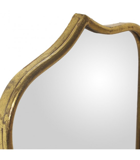 Rectangular Aged Gold Mirror