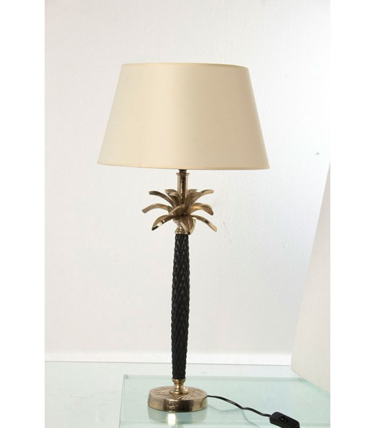 Table Lamp Green Ceramic and White - Height 51cm