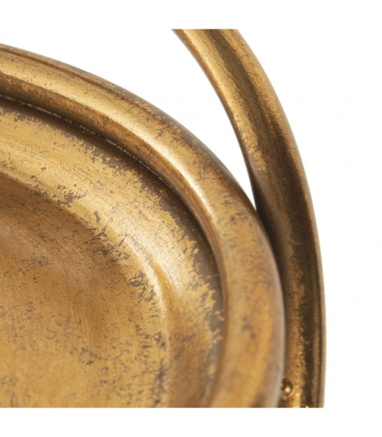 Round Table on Wheels Golden Metal
