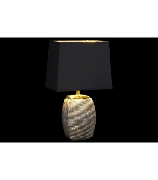 Table Lamp Black and Gold Metal