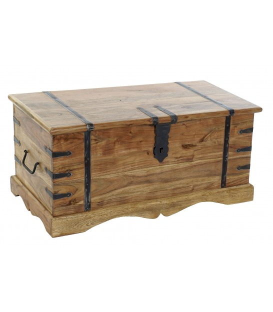Storage Trunk Solid Wood Acacia