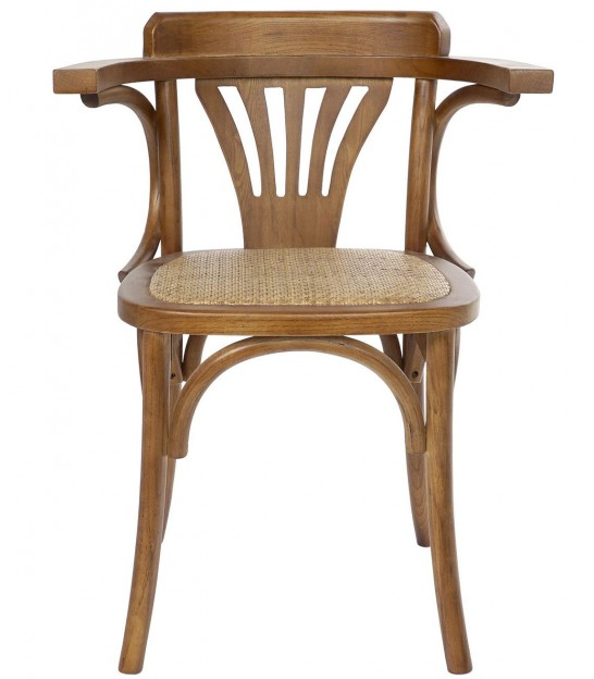 Armchair Elm and Rattan
