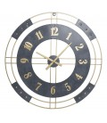 Round Clock Black and Gold - 80cm
