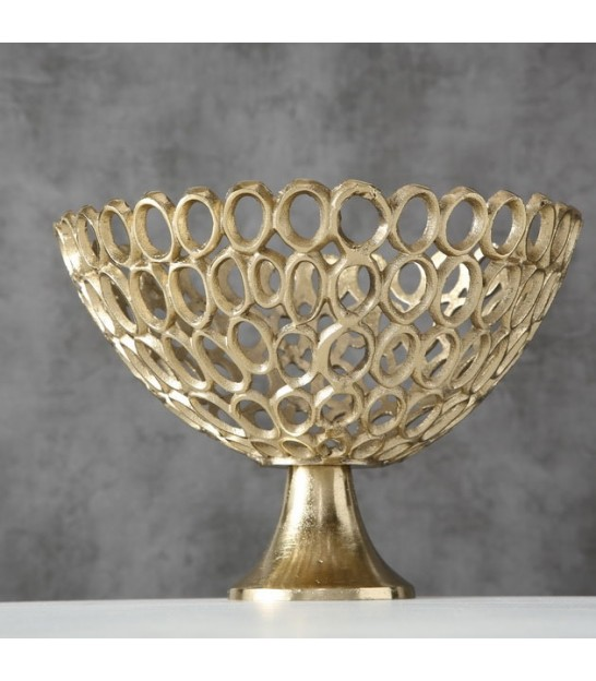 Ancien Gold Metal Fruit Basket