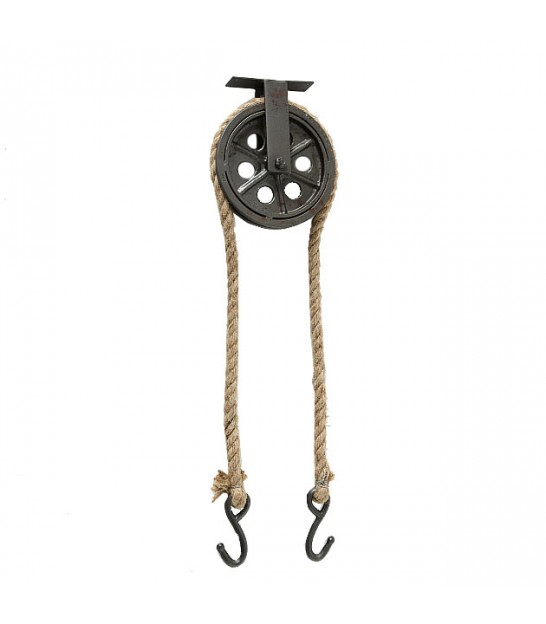 Black suspended Industrial hook