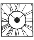 Square Antique Black Iron Wall Clock