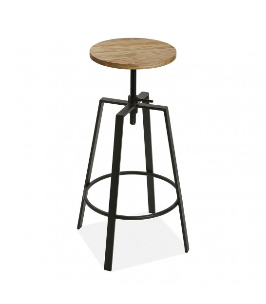 Design Bar Stool Black Velvet and Golden Metal