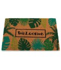 Paillasson Coco Welcome Feuilles - 60x40x2cm