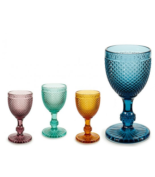 Set of 4 Wine Glass Multicolor