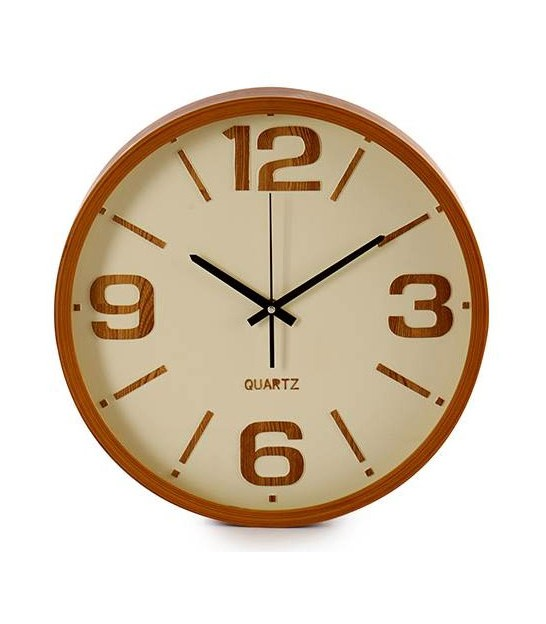 Round Wall Clock Wood - 40cm