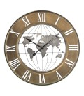 Round Clock World - 60cm