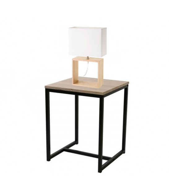 Night Stand Black Metal 2 Shelves
