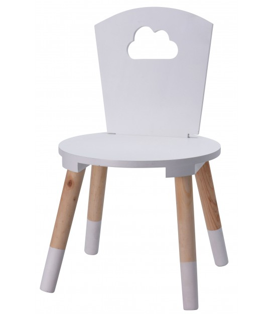 Kid Chair White MDF Cloud
