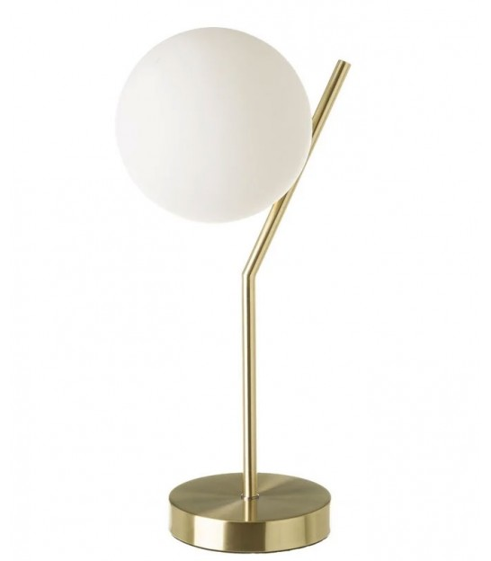Table Lamp Black Marble, Glass and Golden Metal