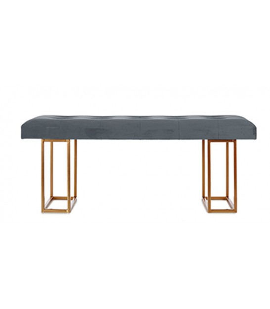 Black and Golden Metal Bench