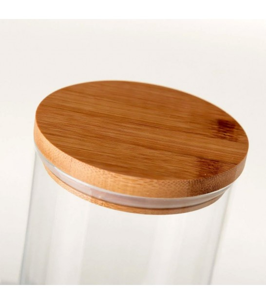 Kitchen Glass Jar Bamboo Lid - H22.5cm