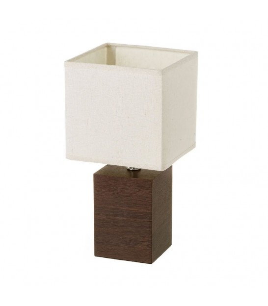 Table Lamp Black Velvet and Cement Base - Height 44cm