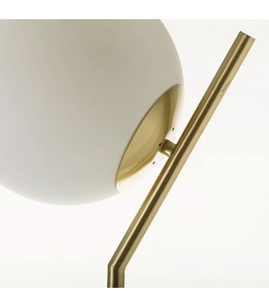Floor Lamp Gold Metal + 2 Glass Globes