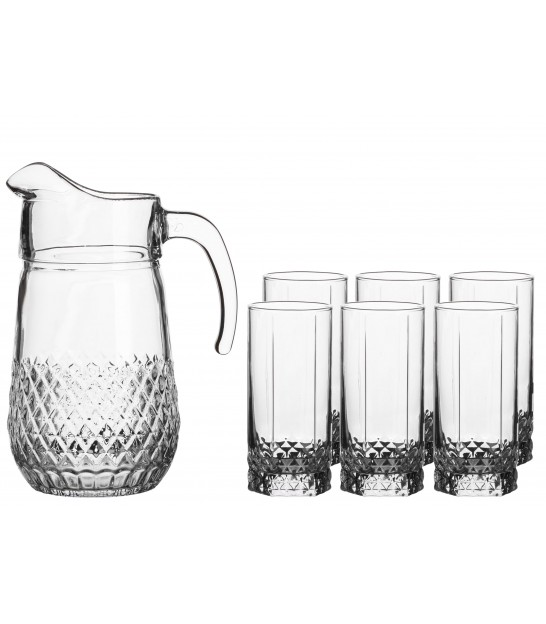 Set of 6 Trumblers and 1 Jug