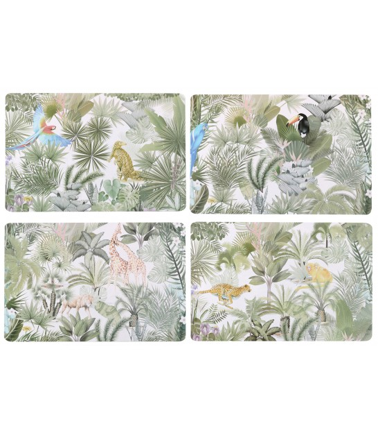 Set de Table Vinyle Motif Tropical - Set de 12