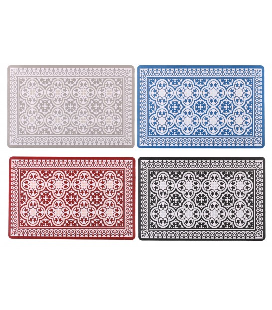 Set de Table Vinyle Motif Mosaïque - Set de 12