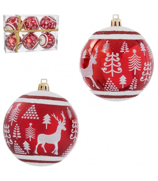 Set of 6 Christmas Balls Gold