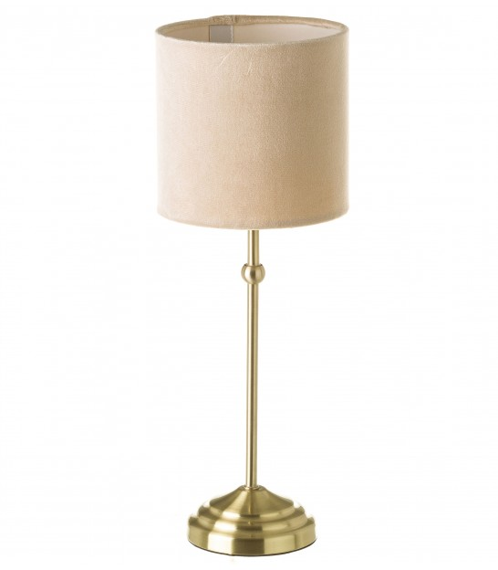 Table Lamp Glass and Golden Metal - H50.5cm