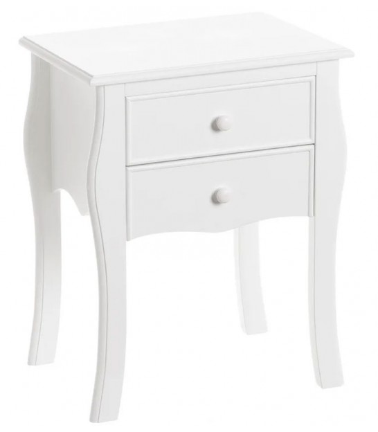 White Bedside Table Wood - H61cm