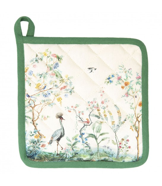 Kitchen Glove 100% Cotton Multicolor Birds and Flowers