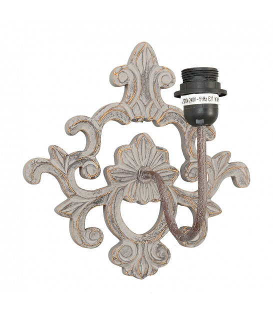 Classical Wall Lamp Polyresin Black