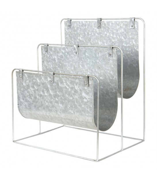 Double Magazine Holder Metal Grey
