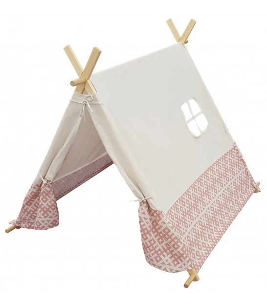 Children's Tipi White and Pink