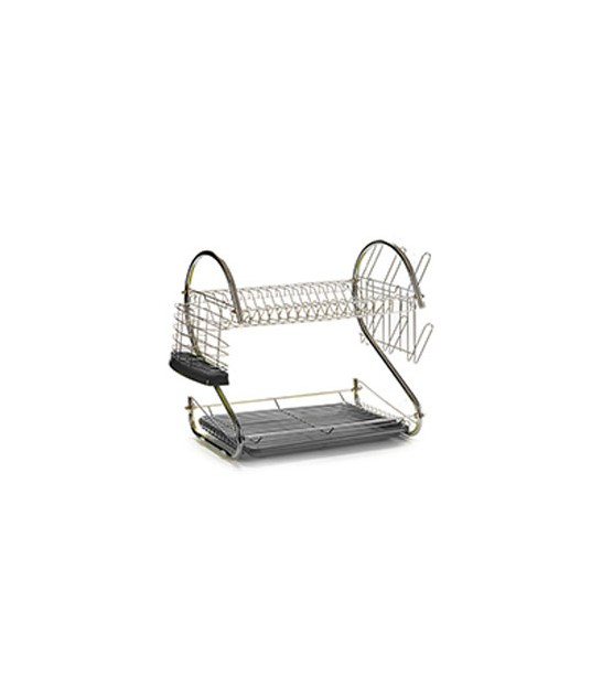 White Double Dish Rack