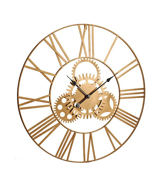 Wall Clock Golden Metal - 80cm