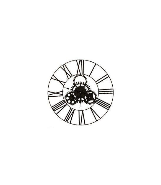 Wall Clock Black Metal - 80cm