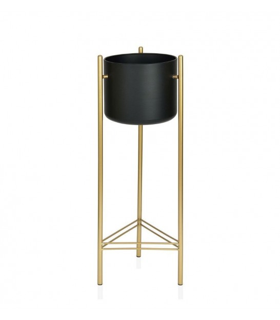 Plant Stand Black and Gold Metal - Height 66cm