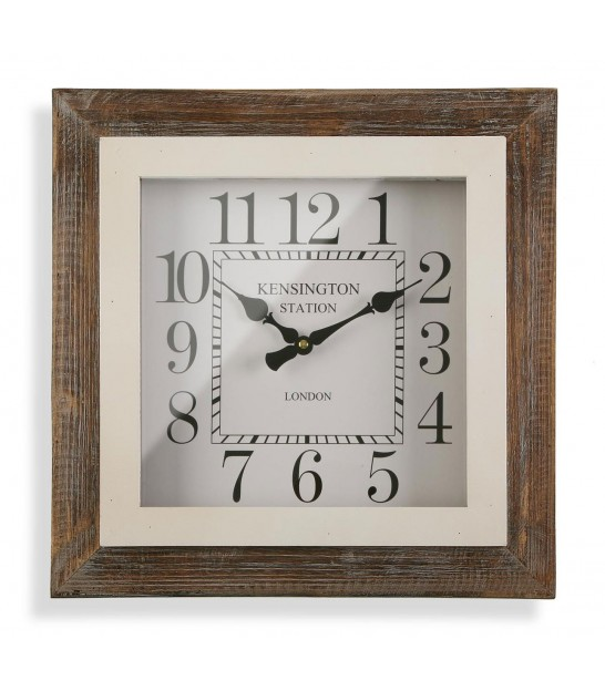 Square Clock Wood