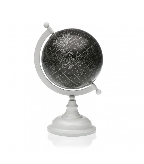 Decorative Mappemonde Globe Black Metal