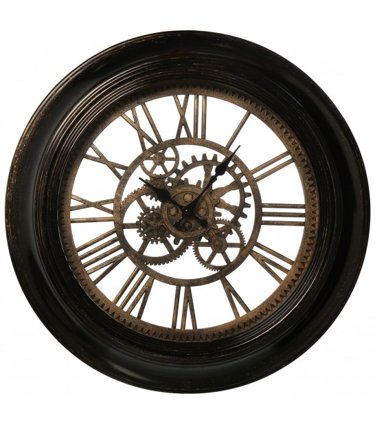 Classical Round Clock Golden Resin - 75cm