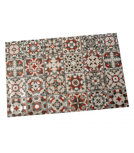 Kitchen Carpet Muticolore Vinyl - 60x90cm