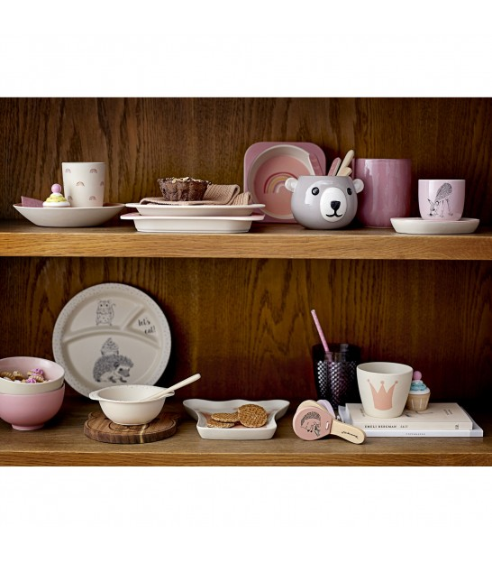 Children Dining Set Bamboo Pink