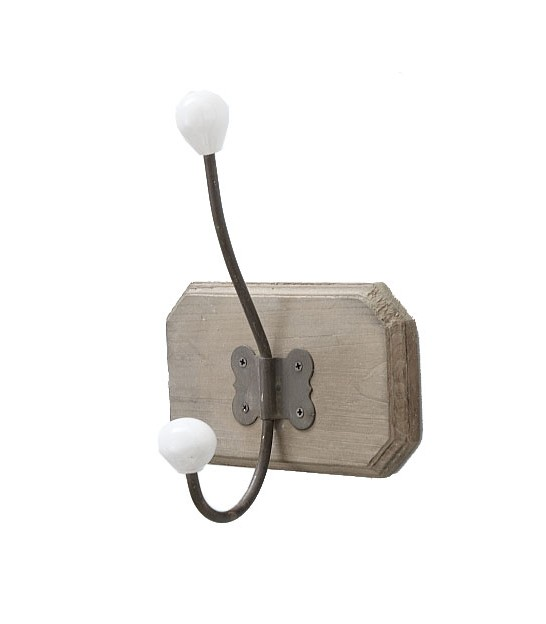 Wood and Metal Wall Hook