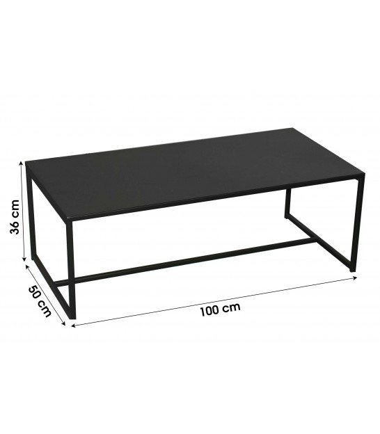 Coffee Table 2 Trays Industrial Style