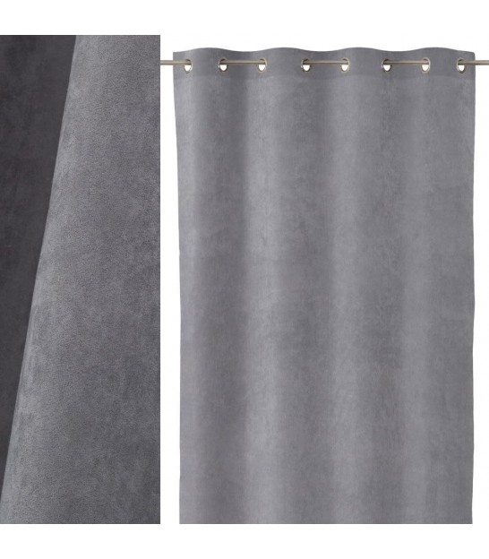 Blackout Curtain Black Velvet - Length 260cm