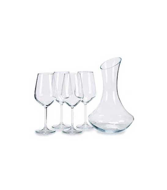Wine Carafe + 4 Wine Glasses