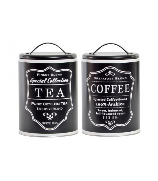 Set of 2 Pots Coffee and Tea Metal